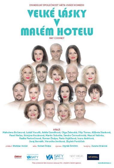 Ray Cooney: Velké lásky v malém hotelu - Divadelní spolek Háta, plakát